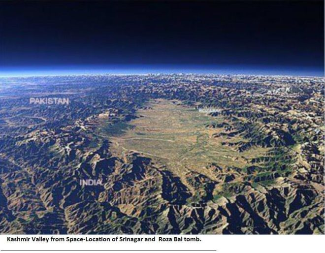 kashmir vally from Space