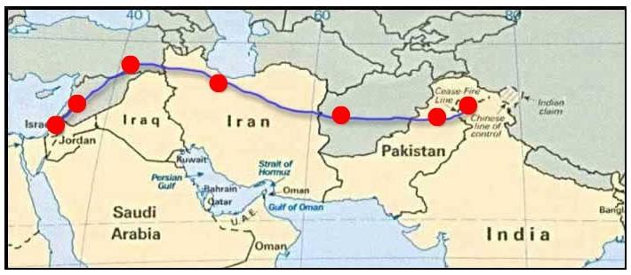 ruta de Jesús hacia la India